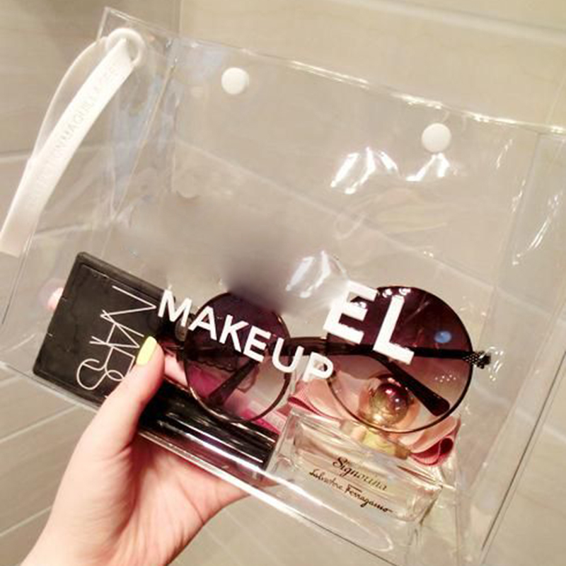 Customized 투명 방수 Clear Plastic 여행 PVC 메이 컵 Purse Cosmetic Bag
