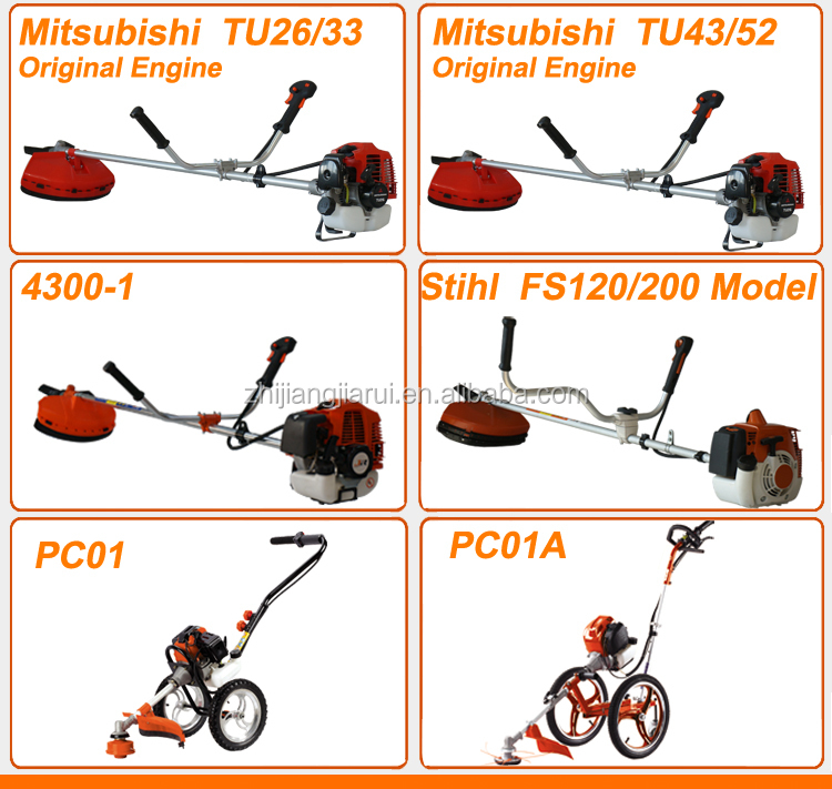 Chinese Garden Tool Gr Pc01a 4 Stroke Hand Push Brush Cutter Agricultural Equipment