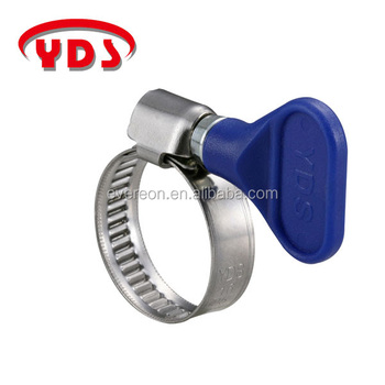 Clamp POM handle plastic flexible butterfly hose clamp color hose clamp