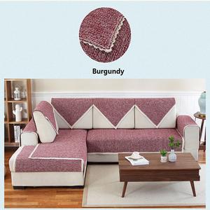 Modern sofa cover design living room plain woven sofa cover
