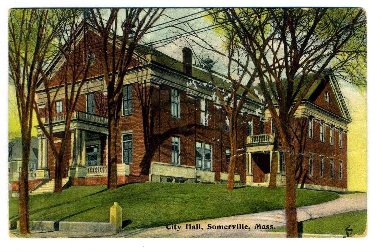 City Hall Somerville Massachusetts Unused Postcard Massachusetts 1900's