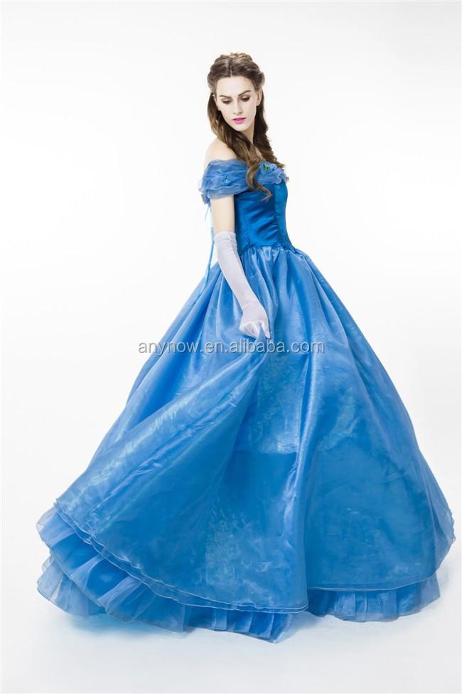 b80ccf6283 Magnifique Cendrillon Papillon Bleu Brillant Tulle Robe De Princesse ...
