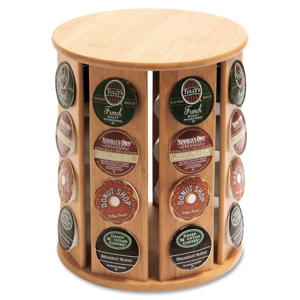 revolving-bamboo-k-cup-coffee-pod-holder