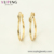 97469 xuping bijuteri, 14k gold color circle hoop ring earring