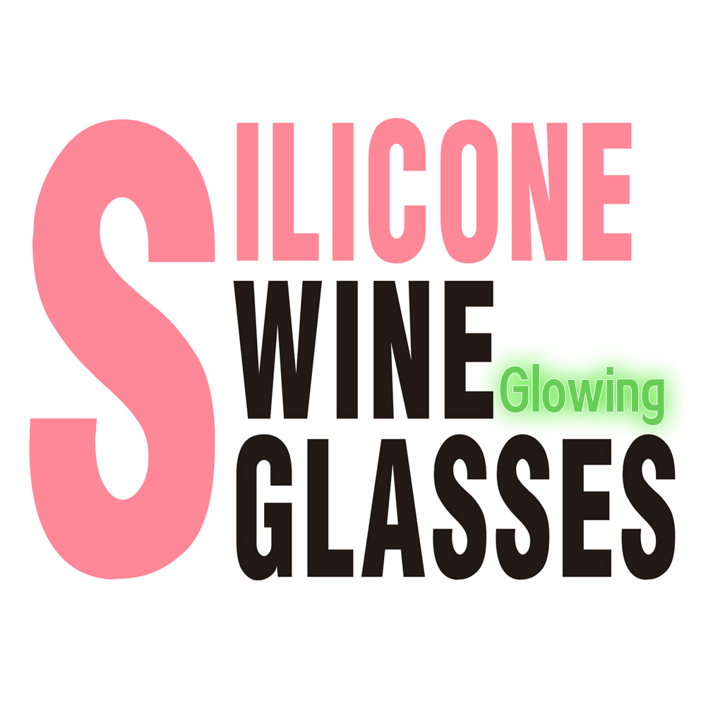 unbreakable silicone wine glasses set 6 glow in the dark distinctive silicones wine glass