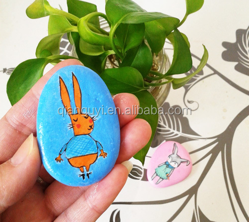 2015 Hot sale the children like hand painted stones drawing lovely animals