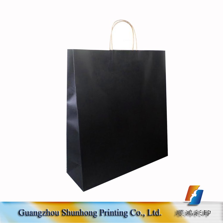 Art Paper Luxury Gift/shopping Paper Bag,Brown/black Custom Paper ...