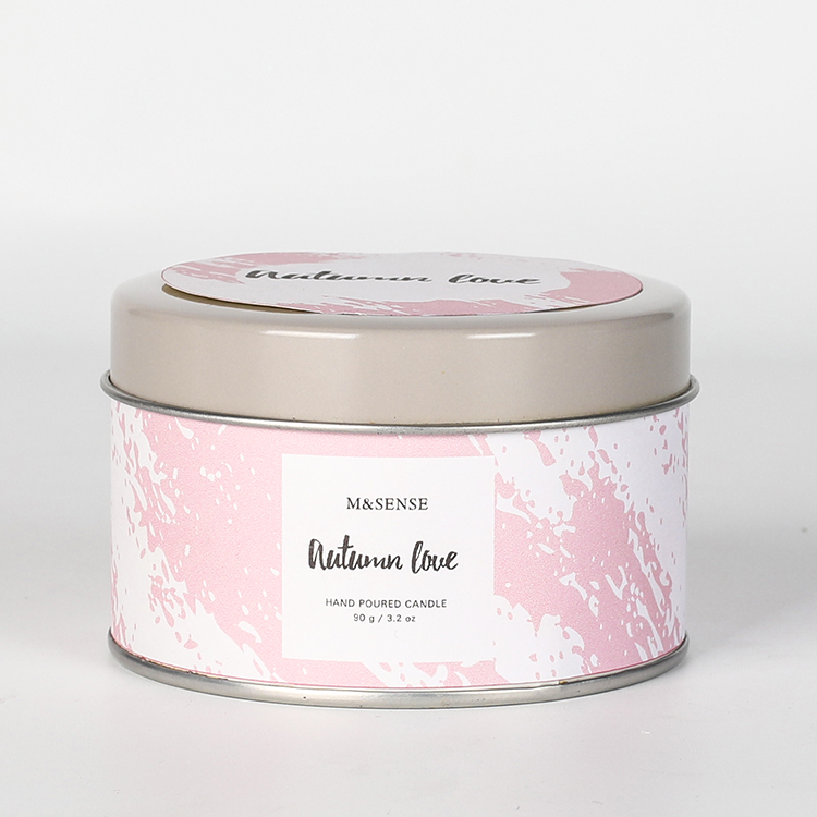 Herfst liefde of Kokosnoot Regen scented tin kaars containers