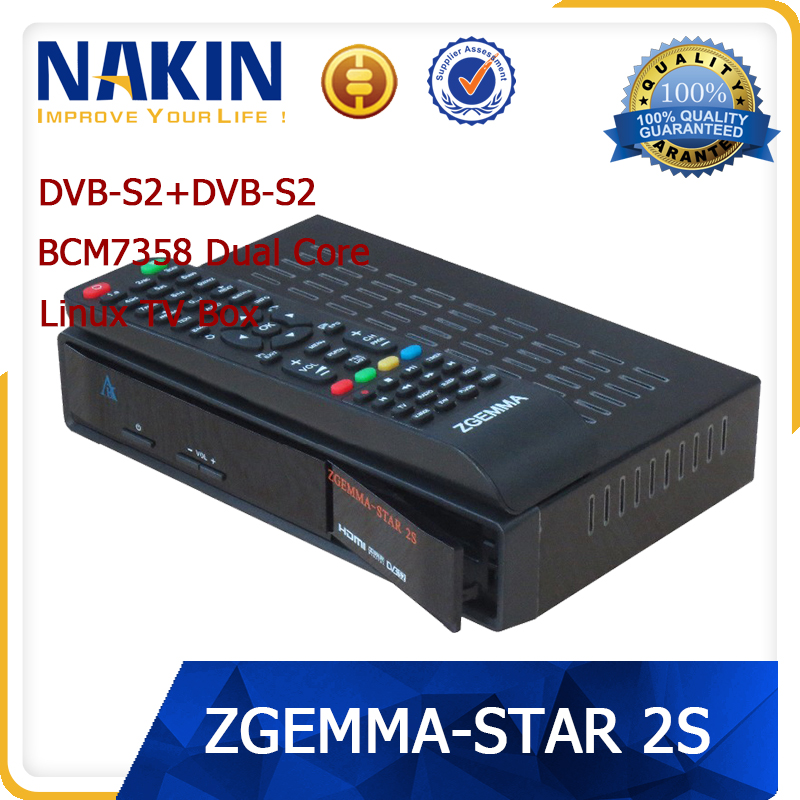 New genuine linux OS Zgemma star 2S two tuner box tv receiver