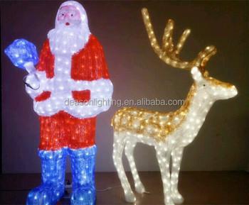acrylic led christmas decorations