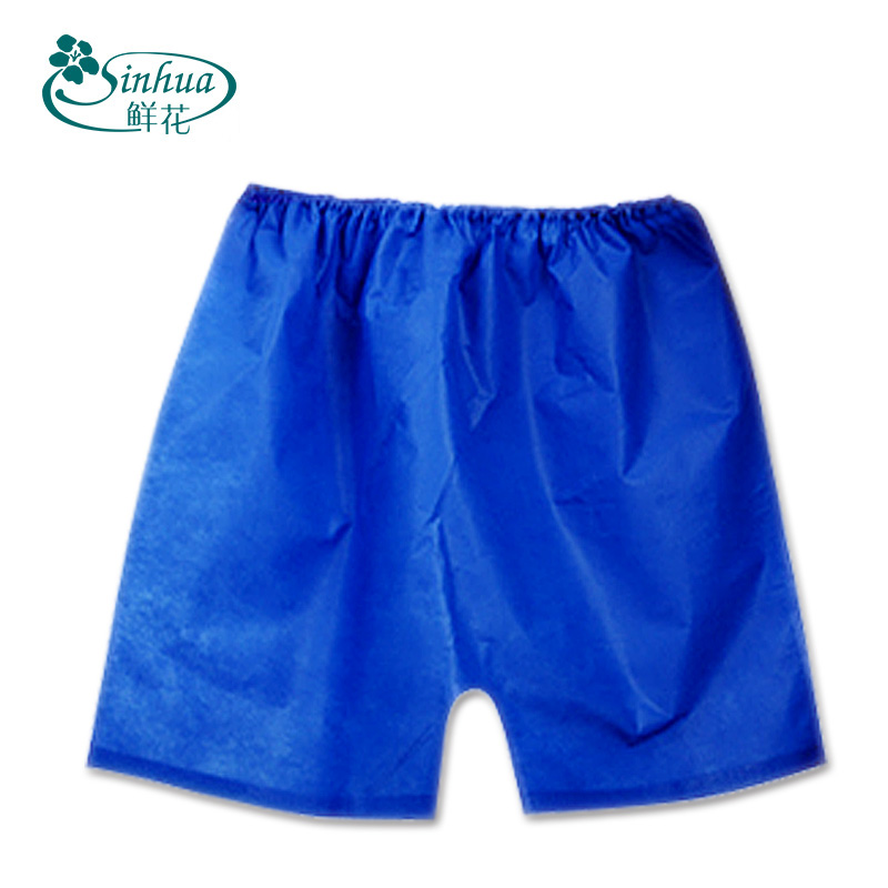 OEM/ODN Non-woven sauna Disposable pants SPA men's boxers PP shorts with elastic