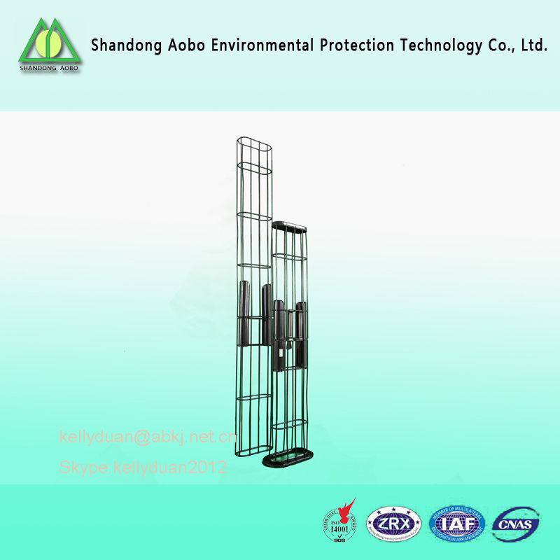 Industry dust collector Silicone coated flat carbon steel filter bag cage for baghouse