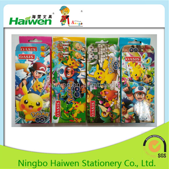 2017 New design Popular China cartoon math set wholesale school stationery set for kids