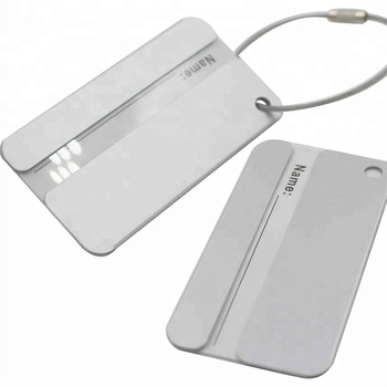 Promotional Aluminium Luggage Tag Personalized Metal Luggage Tags Travel