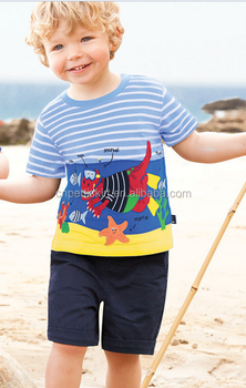 3d1c73388 2017 new arrival cartoon printing fashion baby boy clothes 100% cotton 2  piece outfits cheap