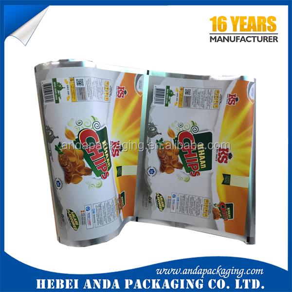 Laminated material accept custom order heat sealing packaging sachet / <strong>chips</strong> packaging sachet