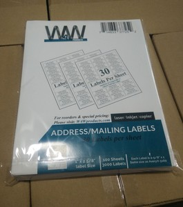 30 UP address mailing labels