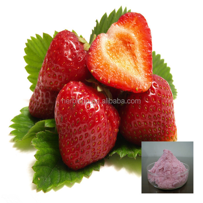 100% Water Soluble Strawberry Flavor Powder fruit powder