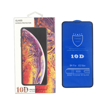 10D Full cover full glue edge to edge screen protector phone glass for iPhone XS max