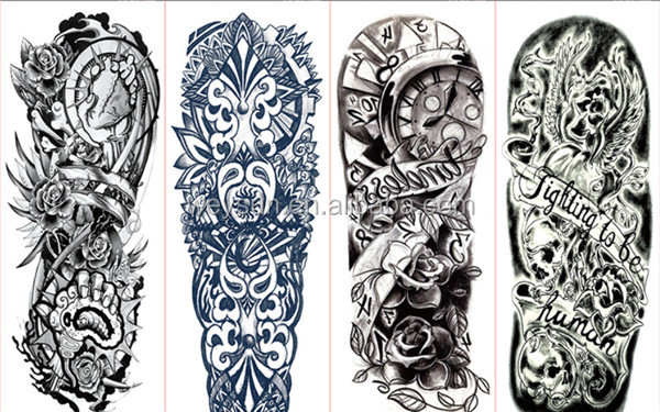Completo Tatuaje Pegatinas Grandes Flores Hombro Falso Tatuajes