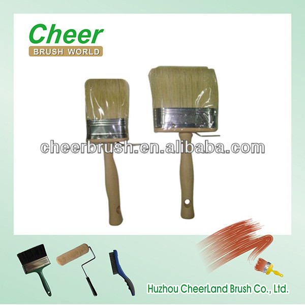wooden broom handle/ceiling texture brushes with pure boar bristle brush cheer 201