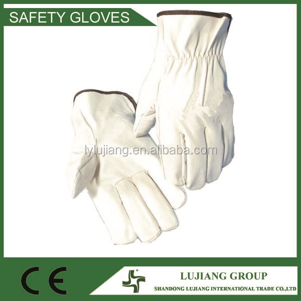 LJ-MS2604 Goat leather driver gloves, sheepskin leather work gloves