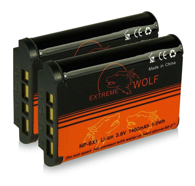 Bundle - 2x Battery NP-BX1 with Infochip · 100% compatible with Sony CyberShot DSC-HX50 / HX50V | DSC-HX300 | DSC-RX1 / DSC-RX1R | DSC-RX100 / DSC-RX100 II | DSC-WX300 | HDR-AS15 | HDR-GW66 | HDR-GWP88