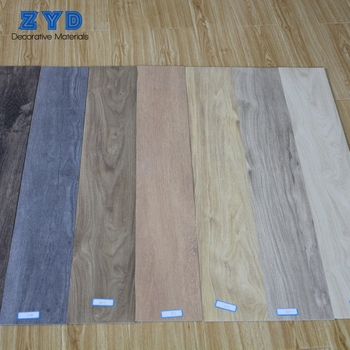 Reduce Noise Comfortable Pvc Wooden Texture Laminate 5mm Thick Vinyl Tile Flooring