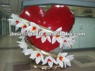 2013 newest design party/club/night bar/pub inflatable valentine day burst heart