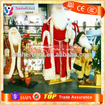 santa claus shopping mall animated musical christmas decoration - Musical Animated Christmas Decorations