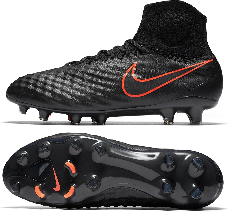 san francisco 3a355 537f7 Get Quotations · Nike Mens Magista Obra Ii Fg Black Black Total Crimson  Soccer Shoes