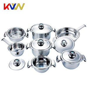 2018 Factory wholesale high quality 12Ppcs cooking pots stainless steel cookware set