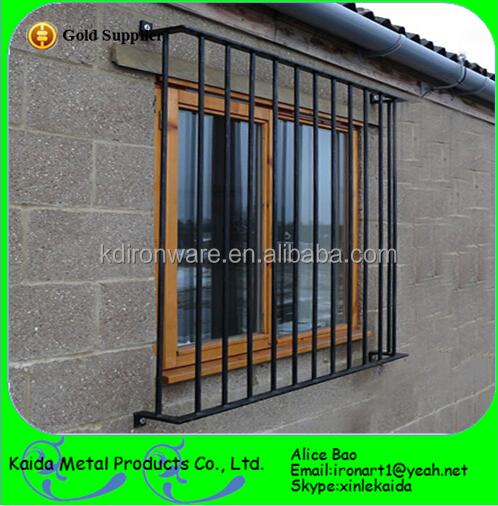 Door window grill wrought iron window and door grill for Window design grill simple