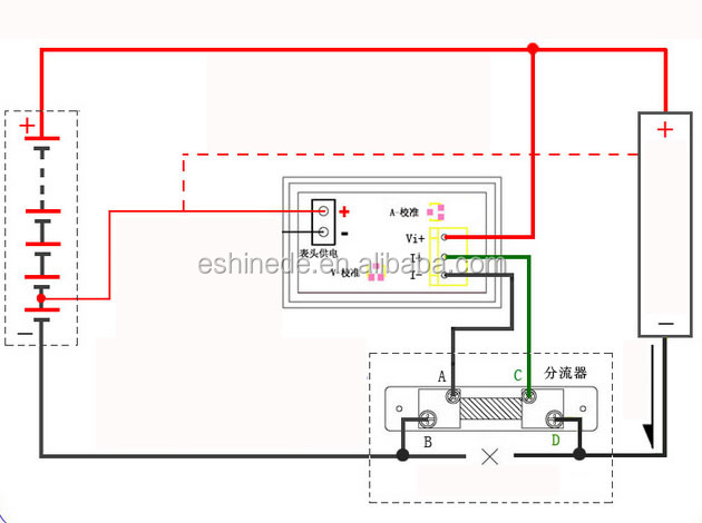 wiring a lcd voltage meter battery voltage meter