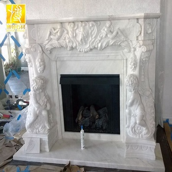 European Royal Electric Fireplace With Floral Design