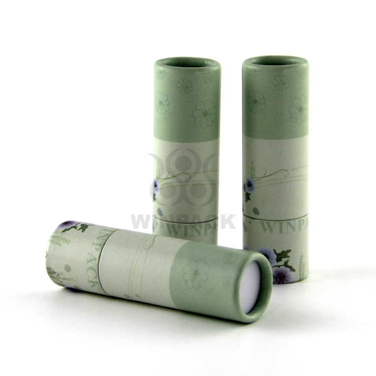Tubo di cartone di carta mini biodegradabile per rossetto e lipbalm eco friendly