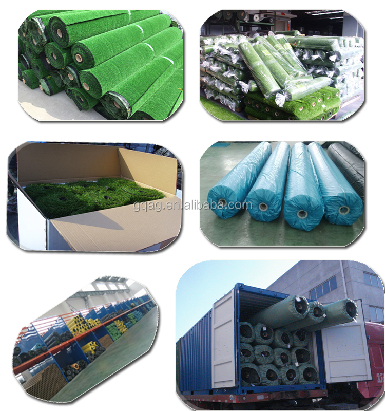 Artificial grass for indoor sled running track