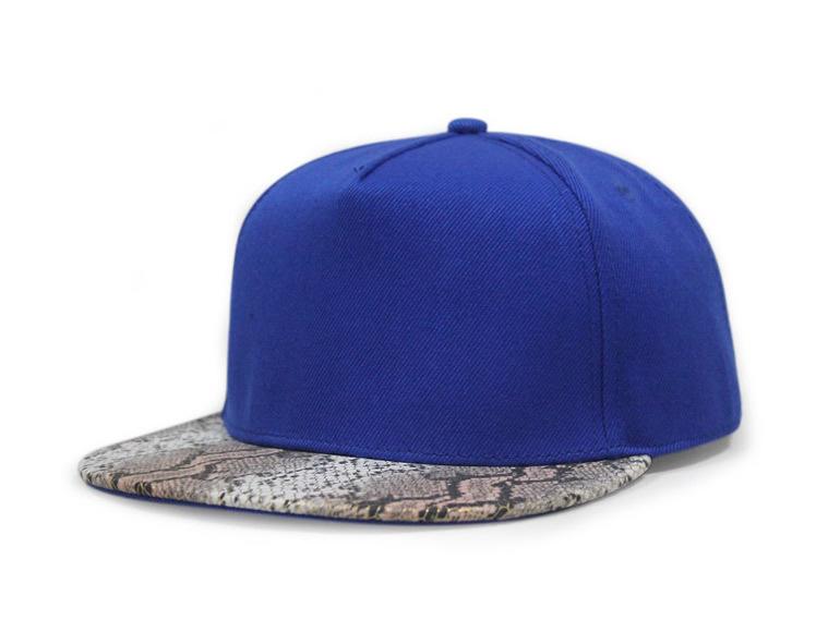 b960cdcfd16 Get Quotations · Blue pink black solid no logo Leopard leather brim hiphop  snapback casual leopard flat brim baseball