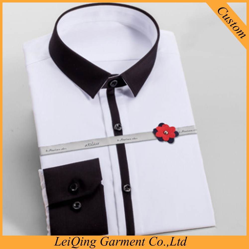 2015 Newest Style Black Collar Elegent White Dress Shirts For Men Kemeja Al Hitam Van Hues View Aoleiwei Shirt Product Details From
