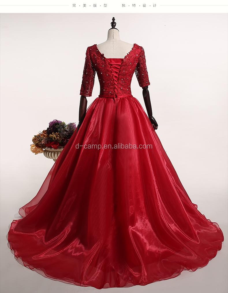 El062 Wine Red Celebrity Dress Evening Designer Evening Gowns With ...