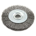 Rust cleaning crimped twist wire wheel brush