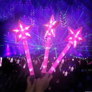 Concert hot fans illuminated Colorful LED Flashing Star Glow Light Stick For Party