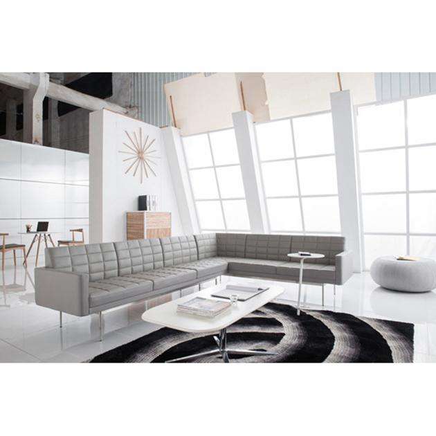 Good Quality Replica Tuxedo Classic Modern Italian Wooden Leather Sofa Set  Italy genuine leather sofa For Office