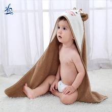 new hot products on the market kids carton bamboo dog hooded bath baby towel with hood