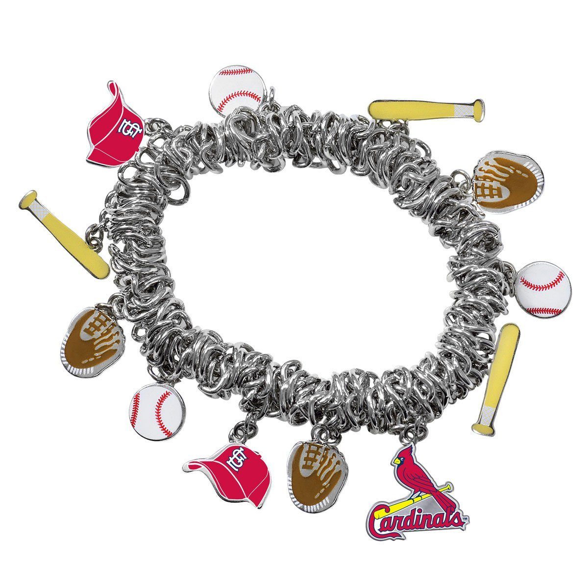 Game Time 101486 MLB St. Louis Cardinals Stretch Bracelet