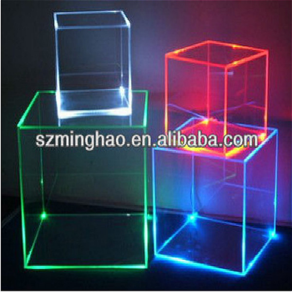 plastic lockable storage box    acrylic display boxes with lock and led light