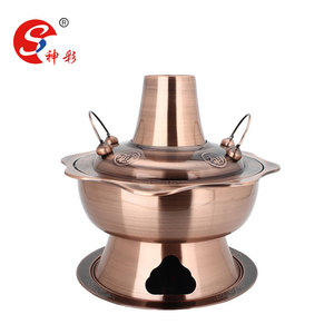 Kitchen Stainless Steel India Chafing Dishes Hot Pot Charcoal Hotpot Shabu Shabu Hot Pot