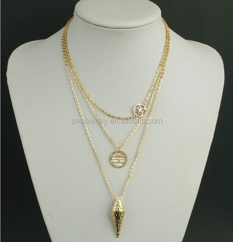 minimal trend cool gold fernweh design style silver chain necklace jewelry products simple