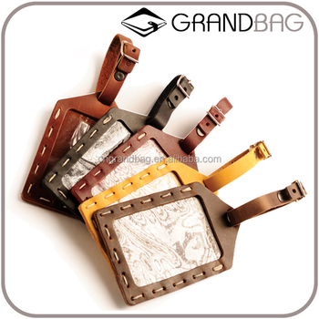 Travel And Wedding Favor Genuine Leather Luggage Tags Guangzhou