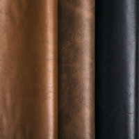 Recycled Worn Vintage Soft Brown Natural Old Weathered Artificial Faux Pu Pvc Leather Texture